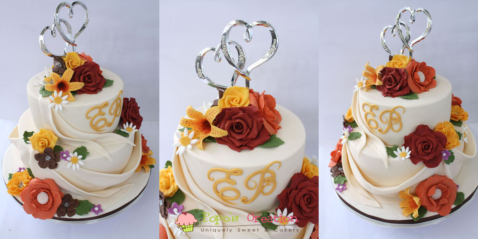 autumn wedding cakes
