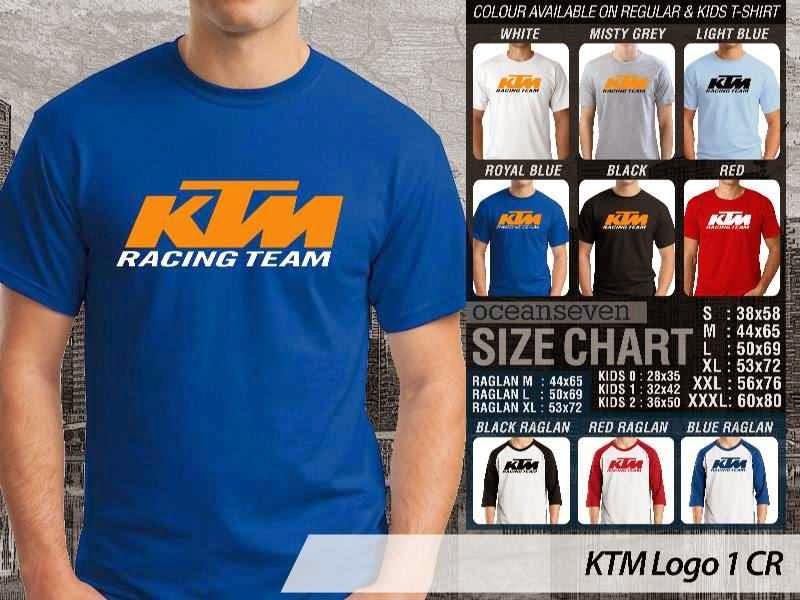 KAOS KTM Logo Otomotif distro ocean seven