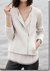 Wrap London Ecru Biker Cardigan - other colours