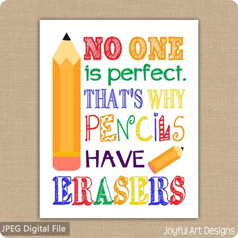 ETSY Listing pencils have erasers