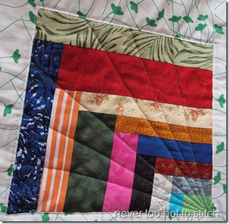 finished quilt detail