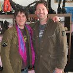 I found a purple scarf and an army jacket, just like my buddy al