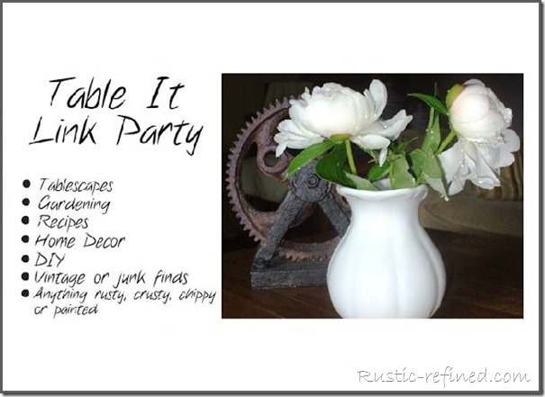 Interior Design, Home Decor, Tablescape Gardening Link Party