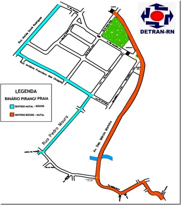 Detran - Mapa de Alteração de Trânsito - Praia de Pirangi