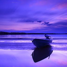 When the boat came in.. by Simon Lambert - Landscapes Waterscapes