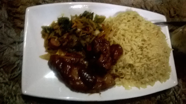 Curry rice and sauce