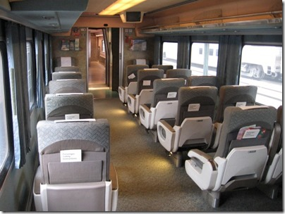 IMG_0701 Amtrak Cascades Talgo Pendular Series VI Coach Class Interior at Union Station in Portland, Oregon on May 10, 2008