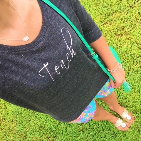 teach, teacher style, swell stated, kendra scott, preppy style, lilly pulitzer