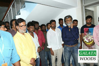 Kabali Shooting Spot Images of Rajinikanth With Makeup