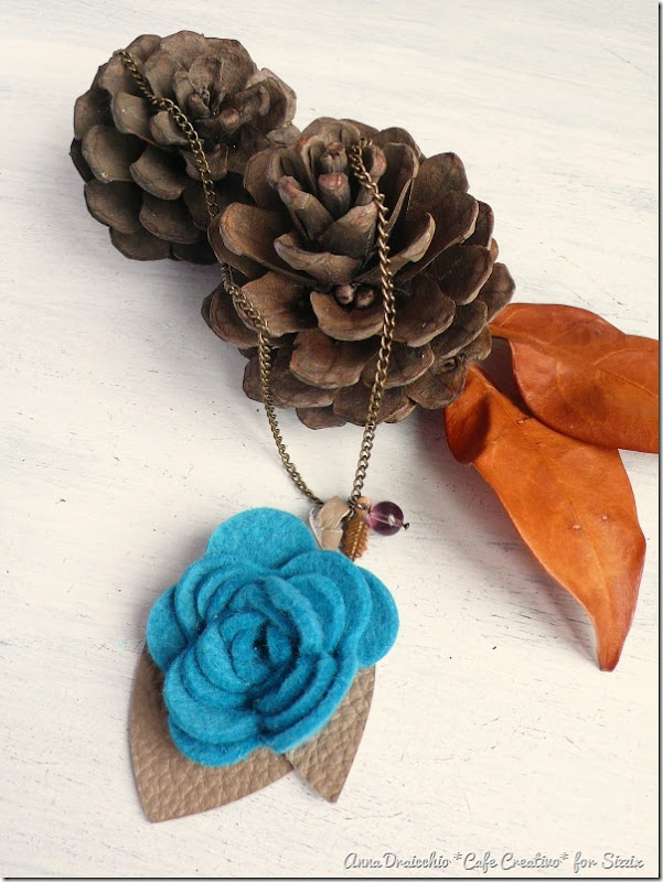 Felt Flower Pendant Necklace-rose die-sizzix big shot-by cafecreativo (1)