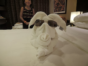 Our steward was quite talented and often made different animals with a towel