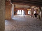 April 1 - Subfloor complete! View from great room