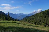 Kurz hinter der Scheitelhöhe des Passo Duran (1601m).