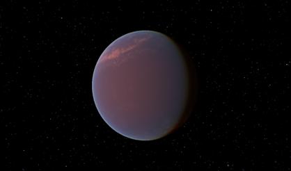 ilustração do exoplaneta GJ 1214b