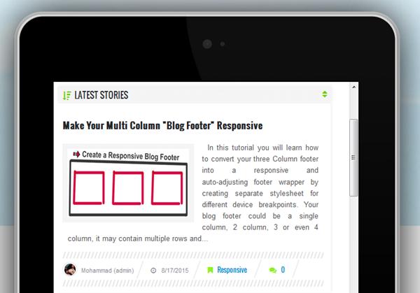 left aligned responsive thumbnail image