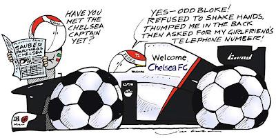 комикс Jim Bamber про Челси и Sauber