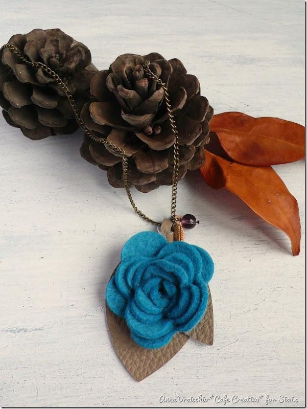 Felt Flower Pendant Necklace-rose die-sizzix big shot-by cafecreativo (3)