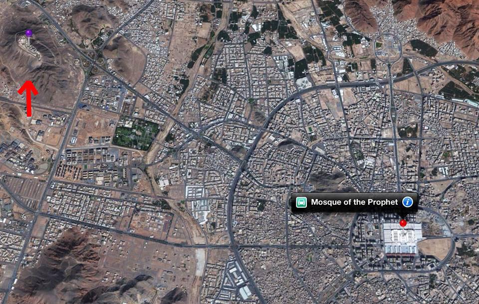 foto dari atas letak Kingdom palace dan masjid madina