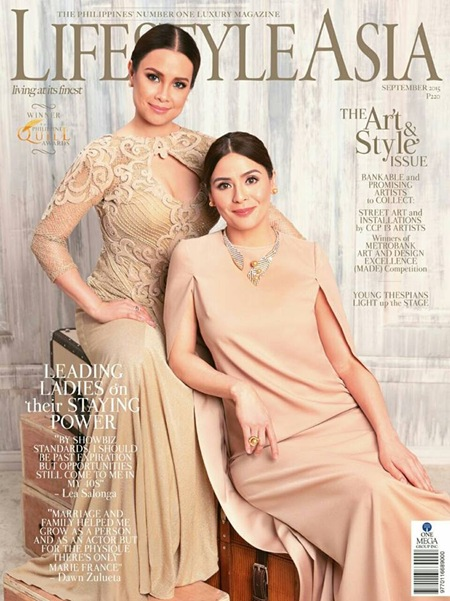 Lea Salonga and Dawn Zulueta for Lifestyle Asia Sept. 2015