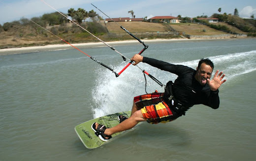 Kiteboarding.com Team Rider and Instructor Todd having some fun