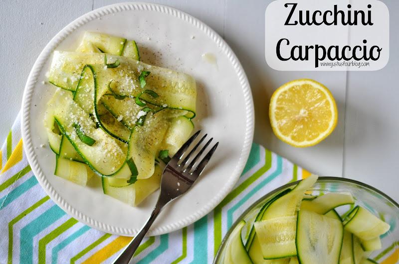 Zucchini Carpaccio Salad Recipe | TodaysCreativeBlog.net