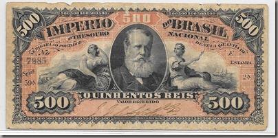 Cédula do Império do Brasil - 500 Reis
