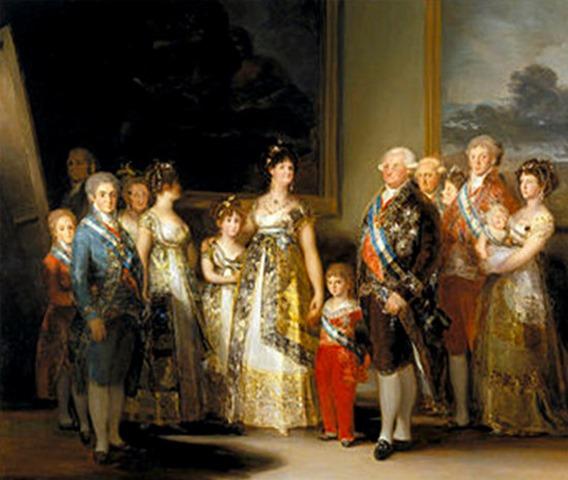 La familia de Carlos IV, obra de Goya