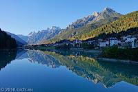 Auronzo di Cadore am Stausse Lago di Santa Caterina.