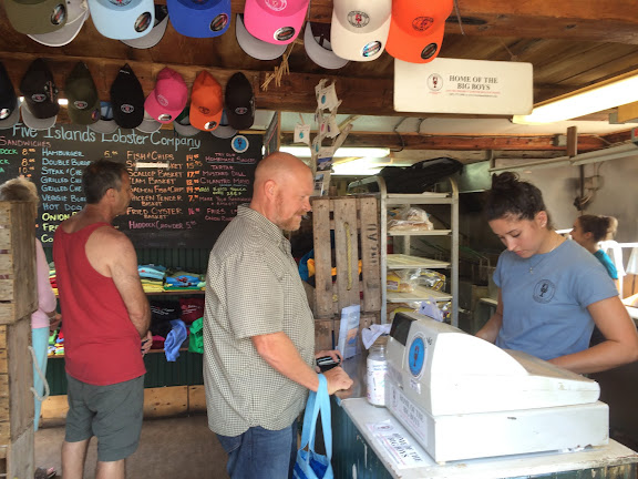 Placing our order at Five Islands Lobster Co