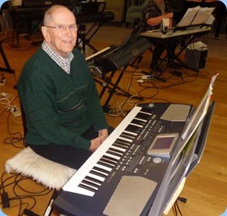 John Beales playing his Korg Pa500.