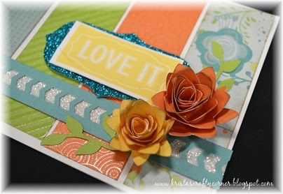 Blossom_washi word_glitter paper_3d flower_rose_card