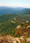 View of Skyline Drive and the Blue Ridge from Stony Man Mountain, Shenandoah National Park in Virginia.