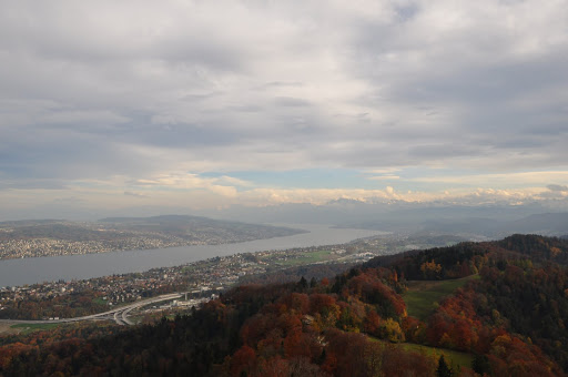 View from above Zurich