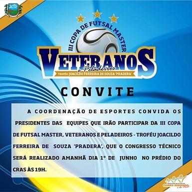 III COPA DE PELADEIROS - CONGRESSO TECNICO