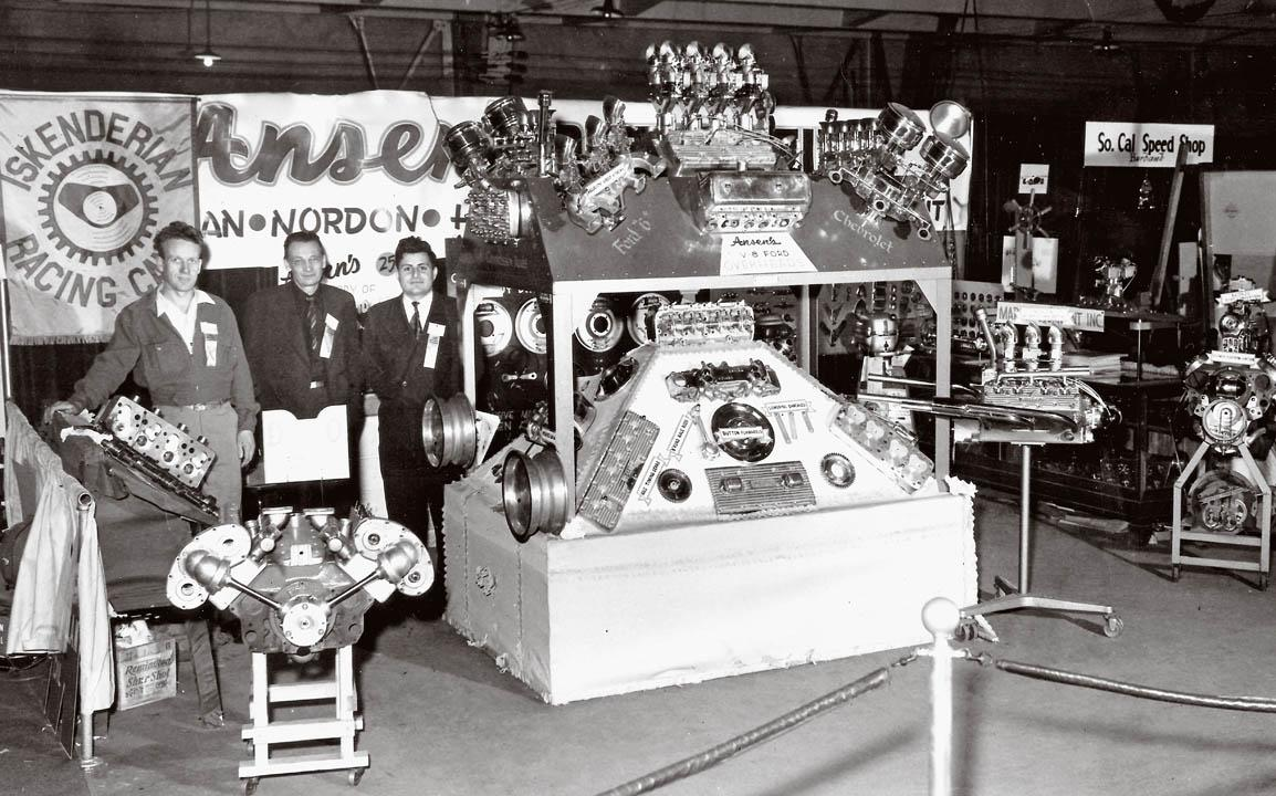 1948 Hot Rod Show display with