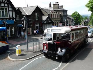The 1946 Leyland Tiger leaves Windermere