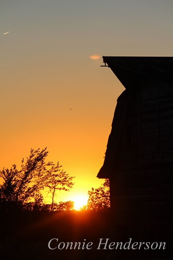 Barn at Sunset August 2 2015