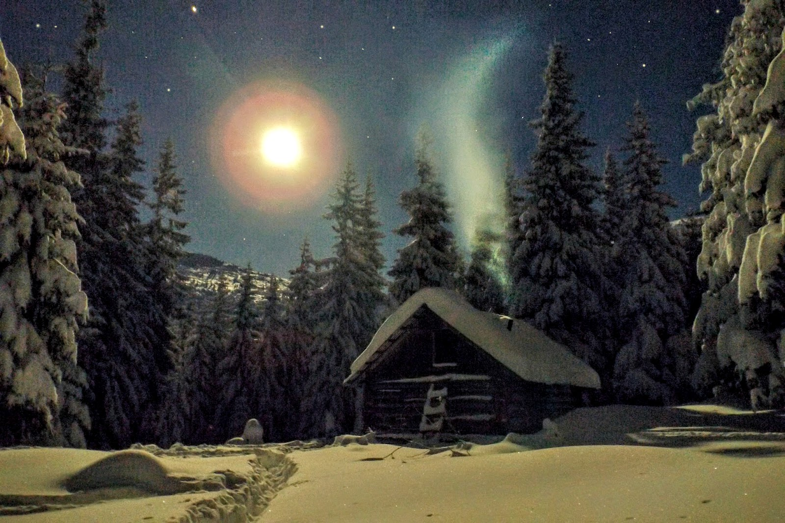 Різдв'яний ранок в Карпатах, Горгани