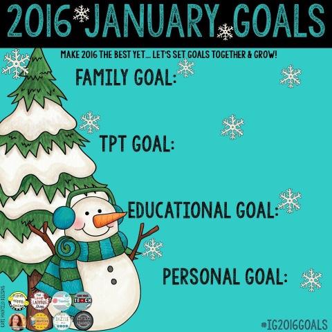 January Goals Blank