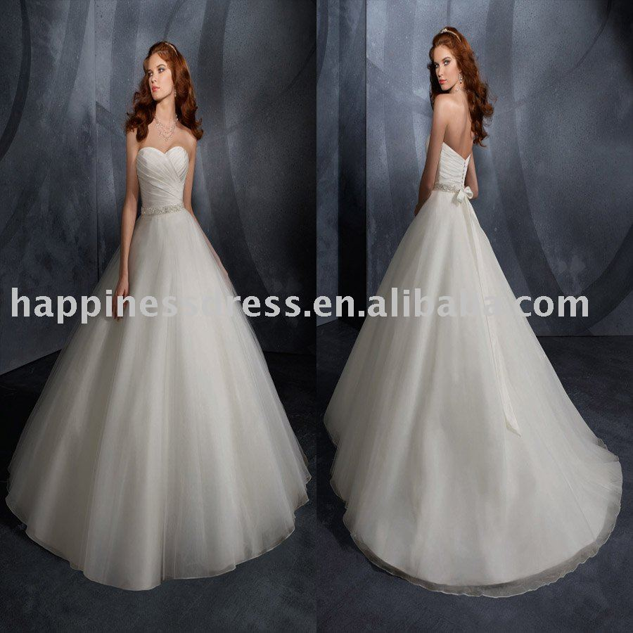 strapless wedding dresses 2000