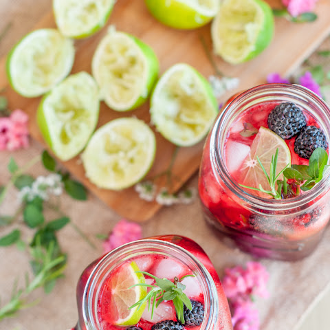 Black Raspberry and Rosemary Mojito