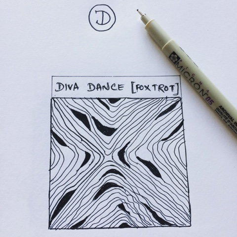 diva dance zentangle foxtrot