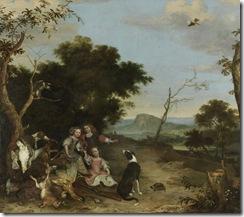 Hondecoeter,_Melchior_de_-_Bildnis_von_drei_Kindern_in_einer_Landschaft_mit_Jagdbeute_-_17._Jh.