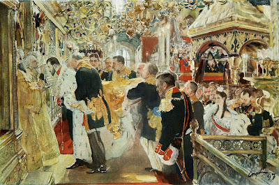 Valentin Serov - Coronation of Nicholas II of Russia 1896