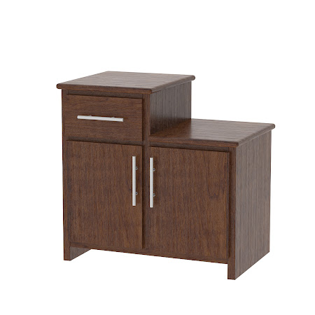Waterfall nightstand with drawers solid wood nightstand for Waterfall design nightstand