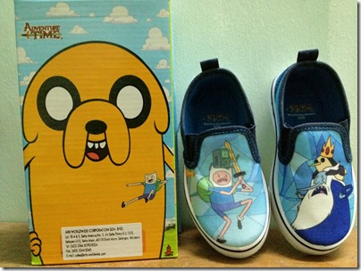 Adventure Time Canvas Slip-ons