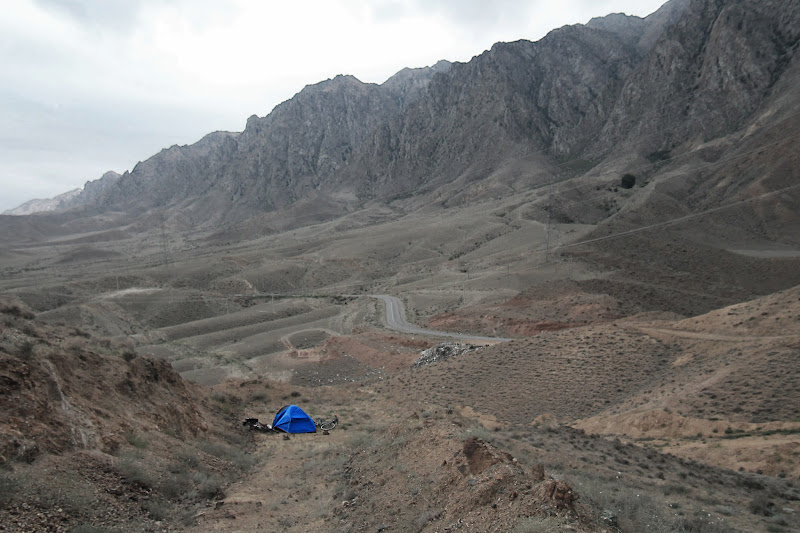 Nocleg 1500 metrów od granicy Armenia-Iran.