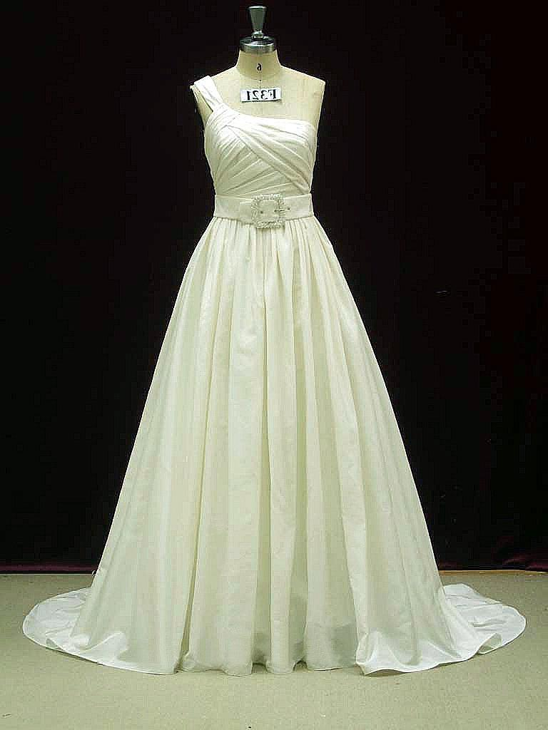 Taffeta Wedding Dress with