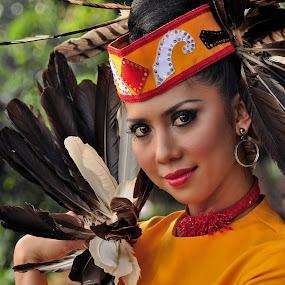 Gadis Dayak by Jovi Photograph - People Portraits of Women