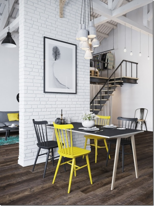 case e inetrni - mini loft praga - stile scandinavo (5)